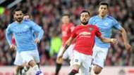 Ilkay Gundogan Bruno Fernandes Rodri Manchester City United 2019-20