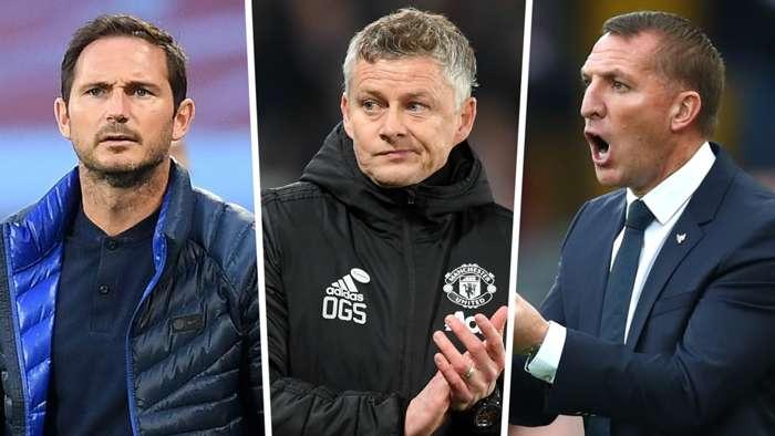 Brendan Rodgers Frank Lampard Ole Gunnar Solskjaer Premier League 2019-20