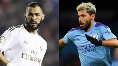 Karim Benzema Real Madrid Sergio Aguero Manchester City 2019-20