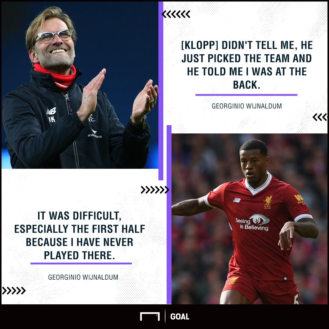 Georginio Wijnaldum Liverpool defence shock