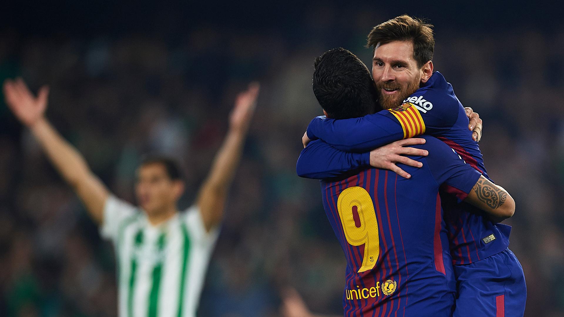 Lionel Messi Luis Suarez Barcelona Betis