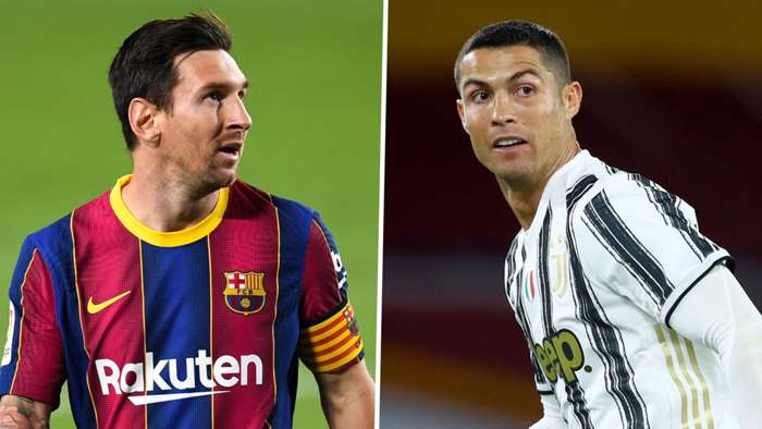 Lionel Messi Cristiano Ronaldo Barcelona Juventus GFX