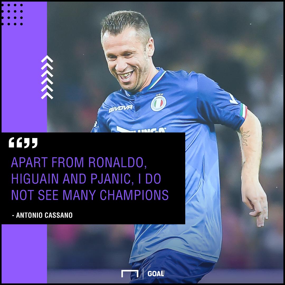 Cassano on Serie A champions GFX