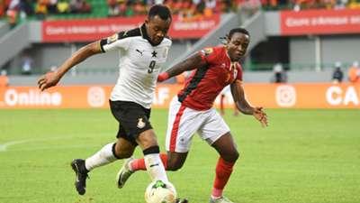Jordan Ayew of Ghana & Geoffrey Kizito of Uganda