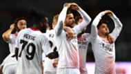 Theo Hernandez Torino Milan celebrating Serie A