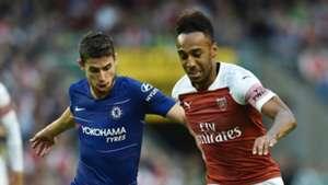 Jorginho Pierre-Emerick Aubameyang Chelsea Arsenal 2018-19