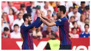 Busquets Messi Barcelona