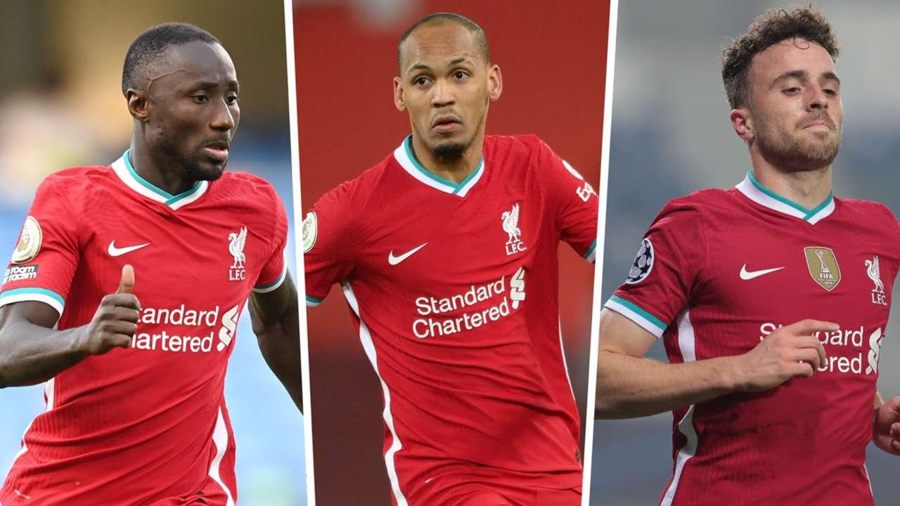 Naby Keita Fabinho Diogo Jota Liverpool 2021