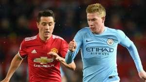 Ander Herrera Manchester United Kevin De Bruyne Manchester City