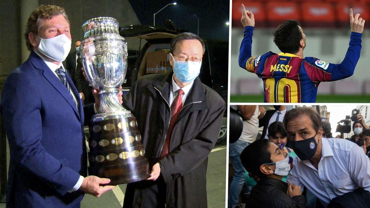 Conmebol Sinovac Messi Luis Lacalle GFX