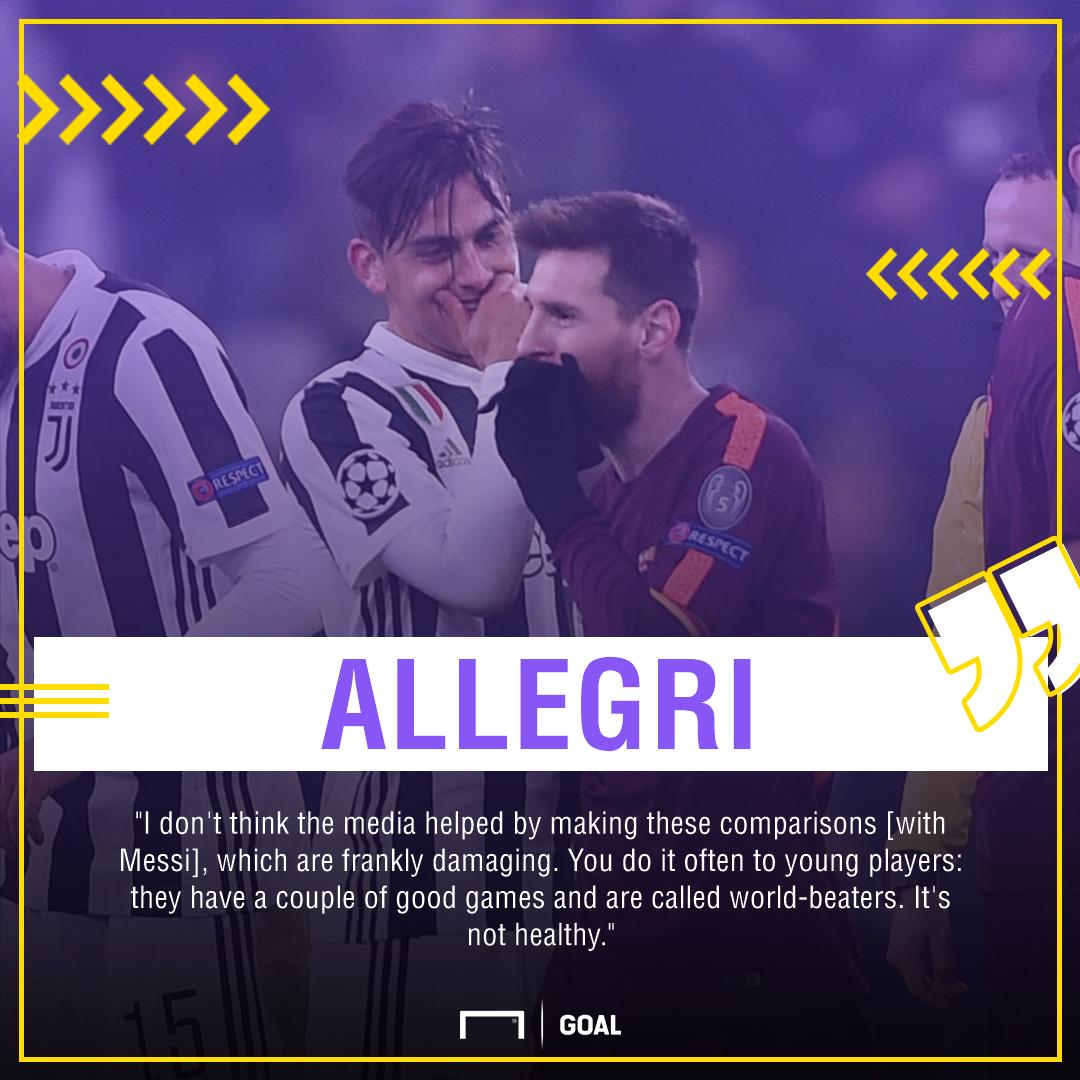 Allegri Dybala Messi PS