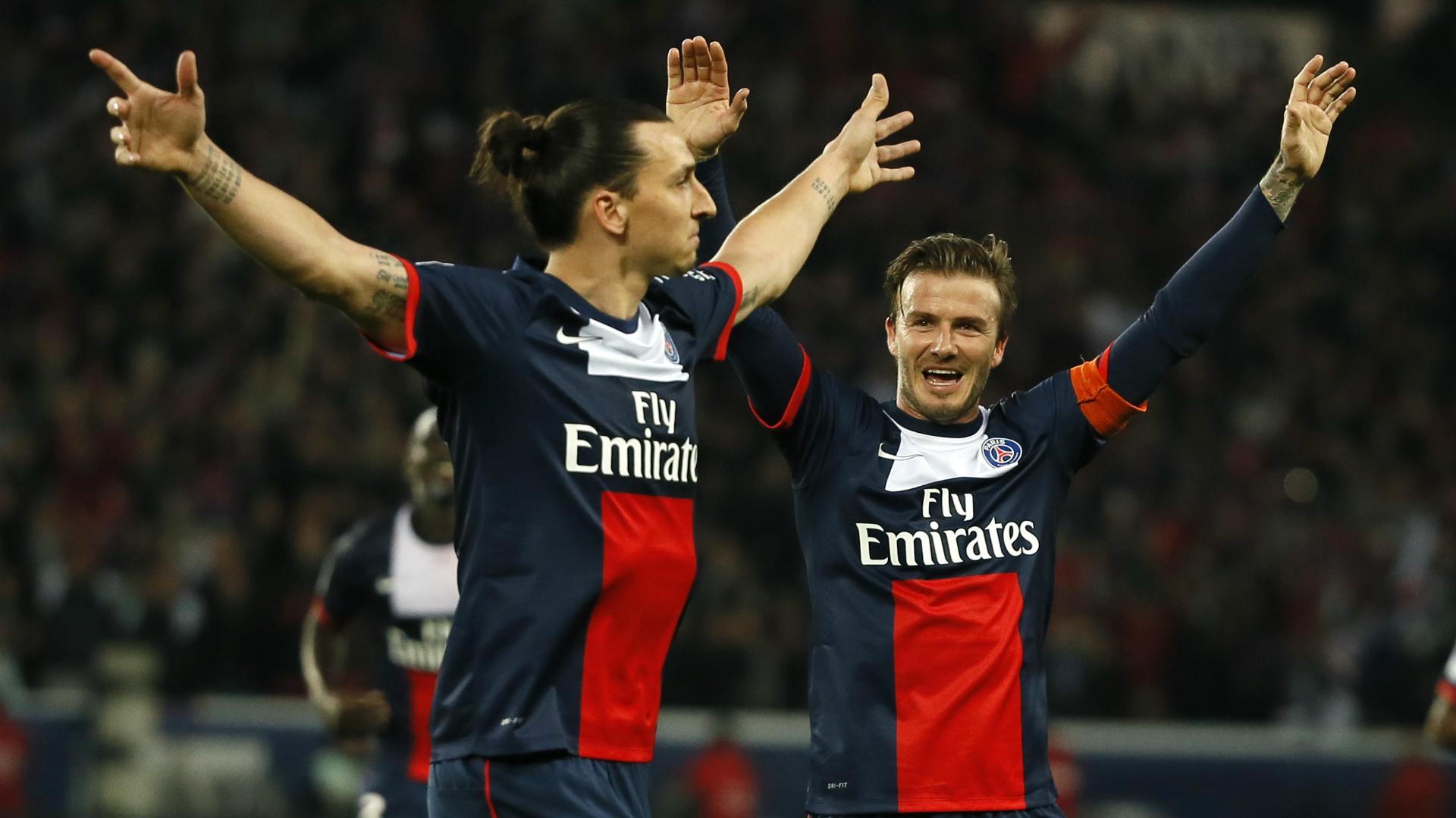 Zlatan Ibrahimovic David Beckham PSG
