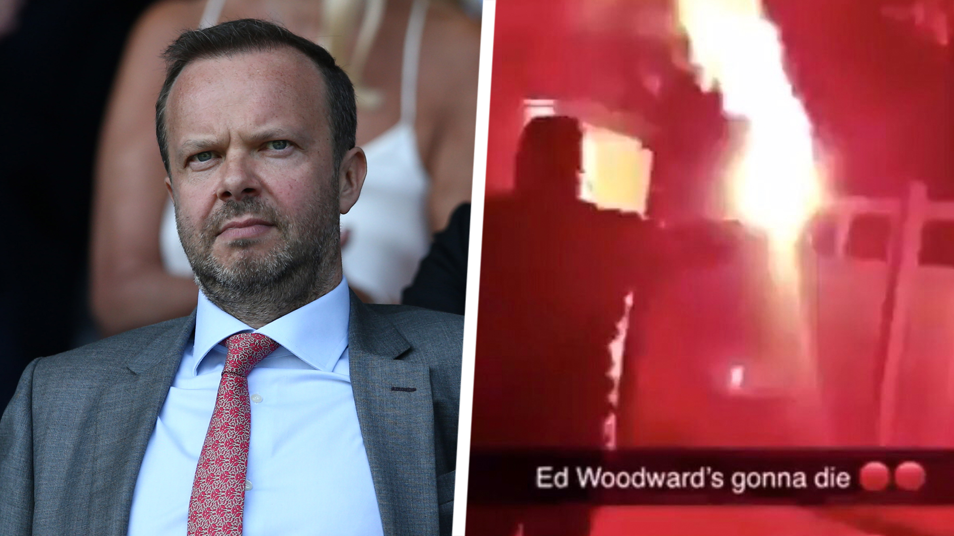 VIDEO: Man Utd fans attack Woodward's house with flares