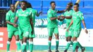 Kenneth Muguna and Clifton Miheso of Gor Mahia.