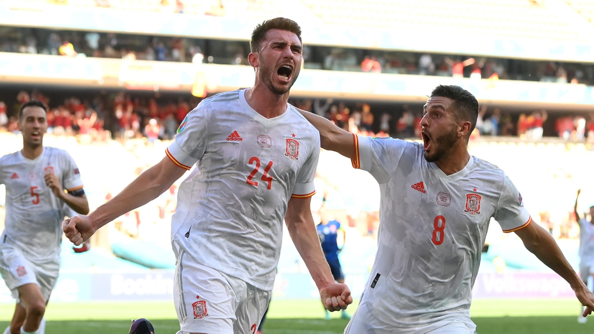 Spain score five goals in European Championship match for first time with Slovakia mauling