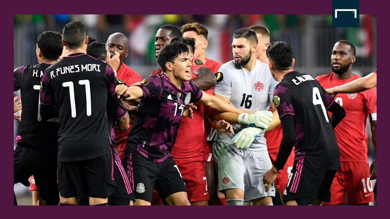 Mexico Canada brawl Gold Cup GFX