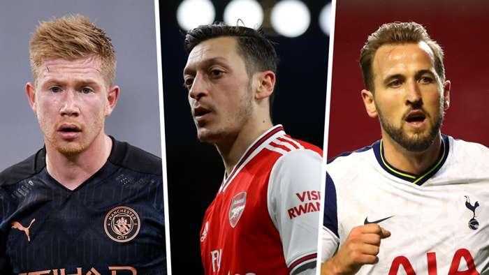 Kevin De Bruyne Mesut Ozil Harry Kane Manchester City Arsenal Tottenham GFX