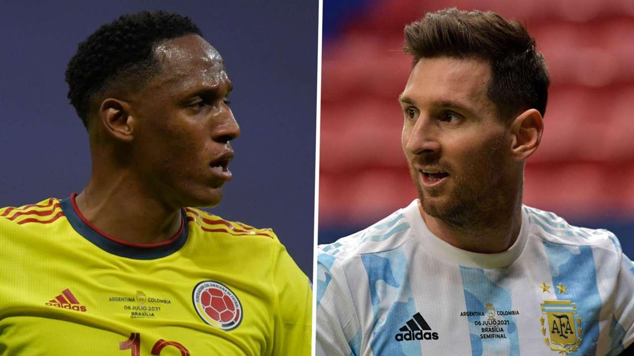Yerry Mina Lionel Messi Colombia Argentina Copa America