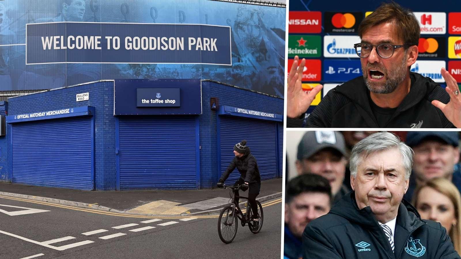 Jurgen Klopp Carlo Ancelotti Liverpool Everton GFX