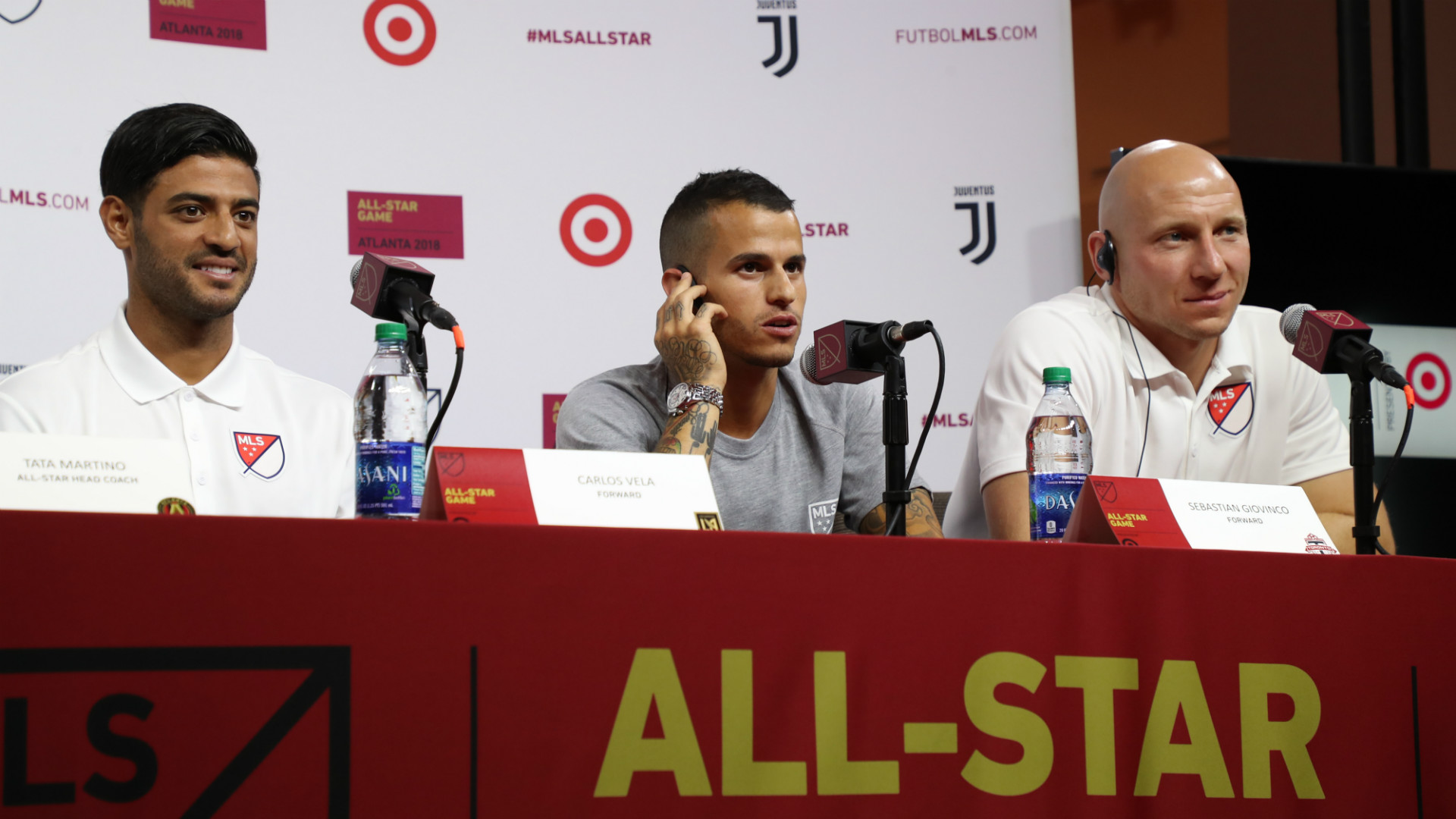 MLS All Star Presser Vela Giovinco 07302018