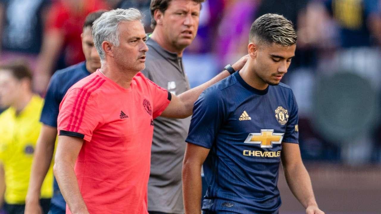 Jose Mourinho Andreas Pereira Manchester United 2018-19