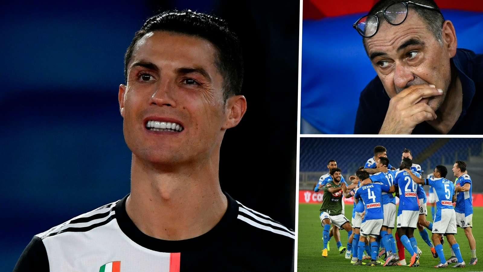 Cristiaon Ronaldo Maurizio Sarri Juventus Coppa Italia 2019-20 GFX