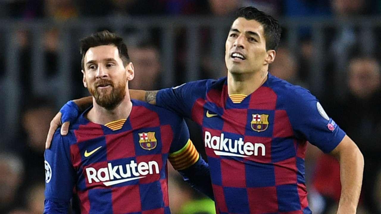 Lionel Messi Luis Suarez Barcelona 2019-20