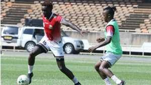 David Ochieng and Francis Kahata of Kenya and Harambee Stars.
