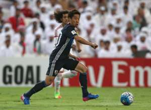 Kagawa tussling for the ball vs UAE