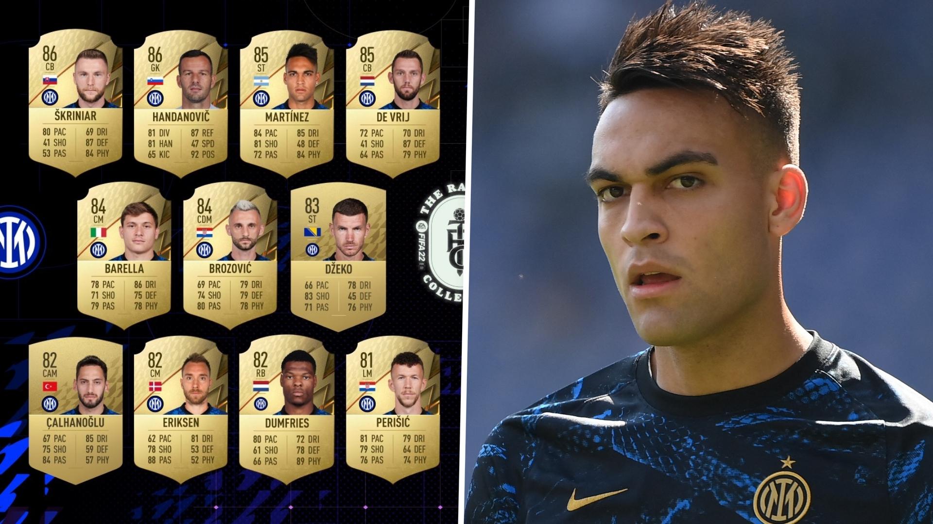 FIFA 22 ratings: Handanovic, Martinez & Inter's best players revealed