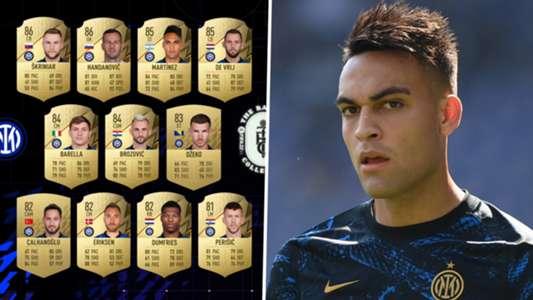 FIFA 22 rankings: Handanovic, Martinez & Inter's greatest gamers revealed