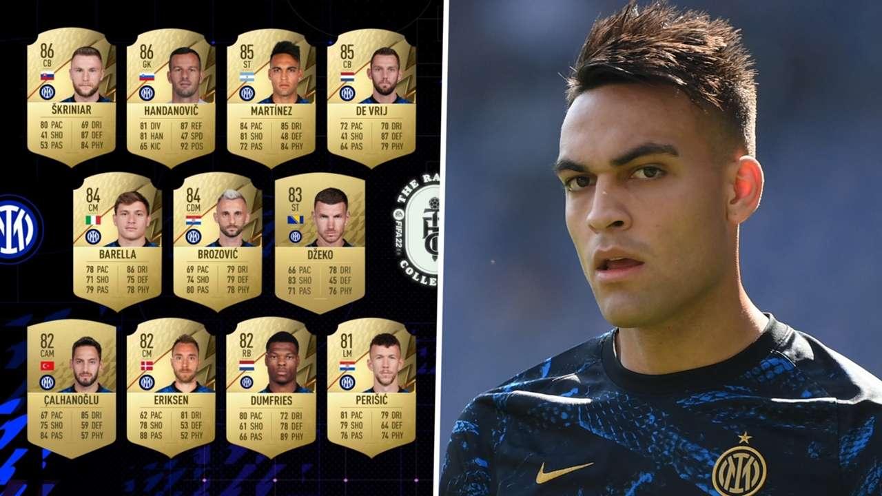 Lautaro Martinez, FIFA 22 ratings Inter