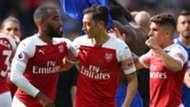 Alexandre Lacazette Mesut Ozil Lucas Torreira Arsenal 02092018