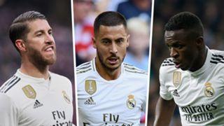 Sergio Ramos, Eden Hazard, Vinicius Jr