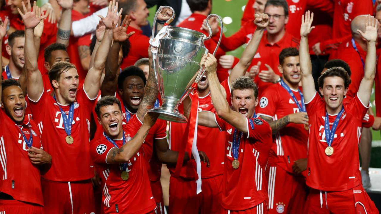 Bayern Munich celebrate Champions League title