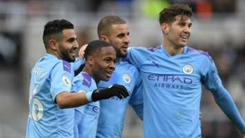 Riyad Mahrez Raheem Sterling Kyle Walker John Stones Newcastle vs Man City 2019-20
