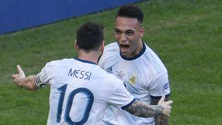 Lautaro Martinez Lionel Messi Argentina Venezuela