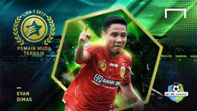 Pemain Muda Terbaik Liga 1 2017 - Evan Dimas