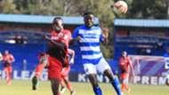 Bonface Andayi of Ulinzi Stars vs John Makwatta of AFC Leopards.