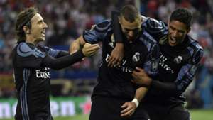 Luka Modric Karim Benzema Raphael Varane Atletico Madrid Real Madrid UEFA Champions League