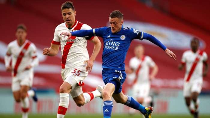 Jamie Vardy Jan Bednarek Leicester Southampton 2021