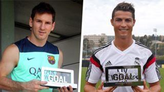 Goal 50 Messi Ronaldo Split