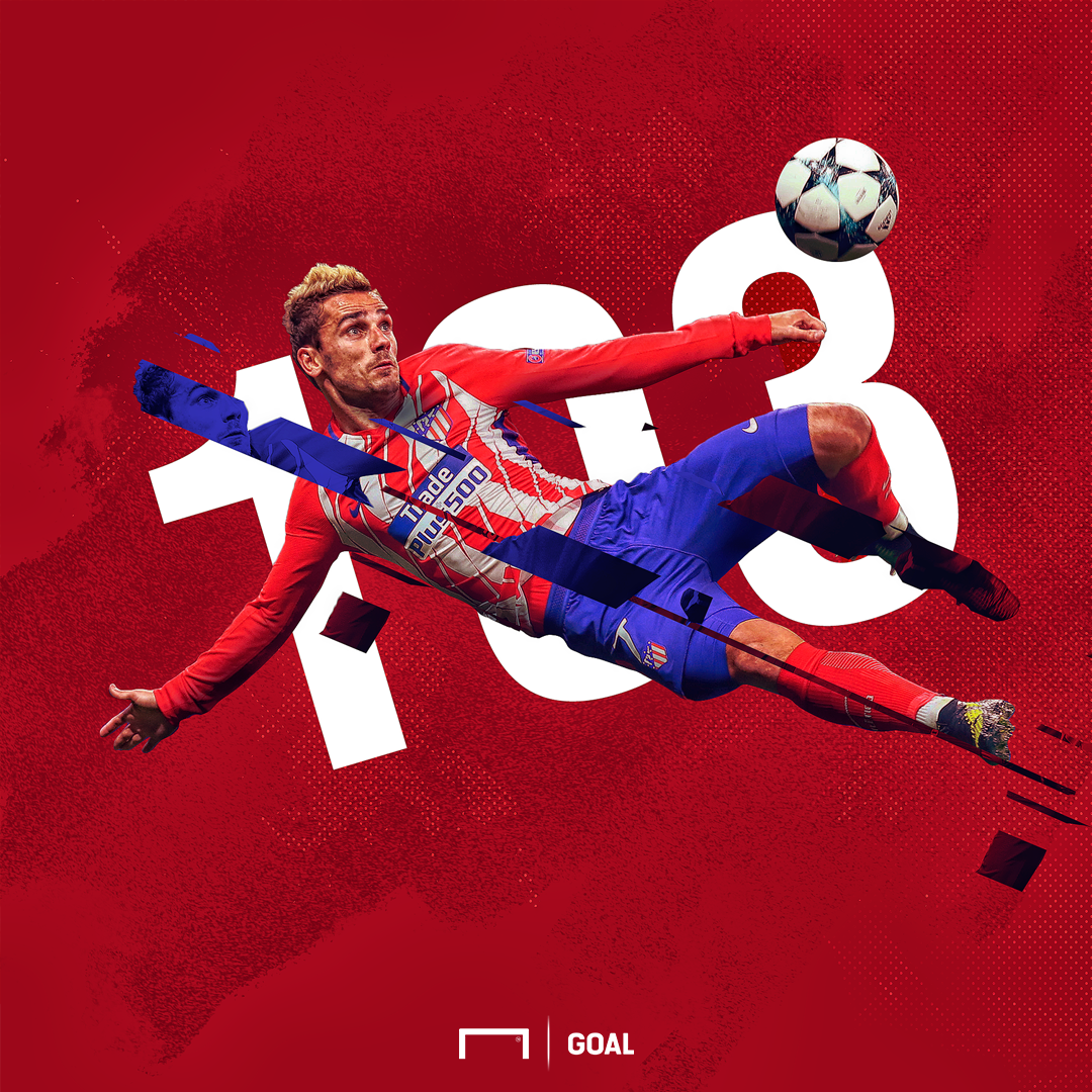 Griezmann 103 goals graphic
