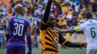 Khama Billiat of Kaizer Chiefs celebrates a goal, October 2019