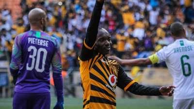 Khama Billiat of Kaizer Chiefs celebrates a goal, October 2019