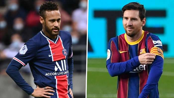 Neymar PSG Lionel Messi Barcelona 2020