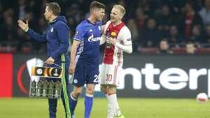 Klaas-Jan Huntelaar, Donny van de Beek, Ajax - Schalke 04, Europa League, 04132017