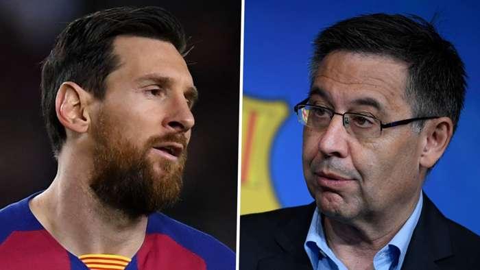 Lionel Messi Josep Maria Bartomeu Barcelona 2019-20 GFX