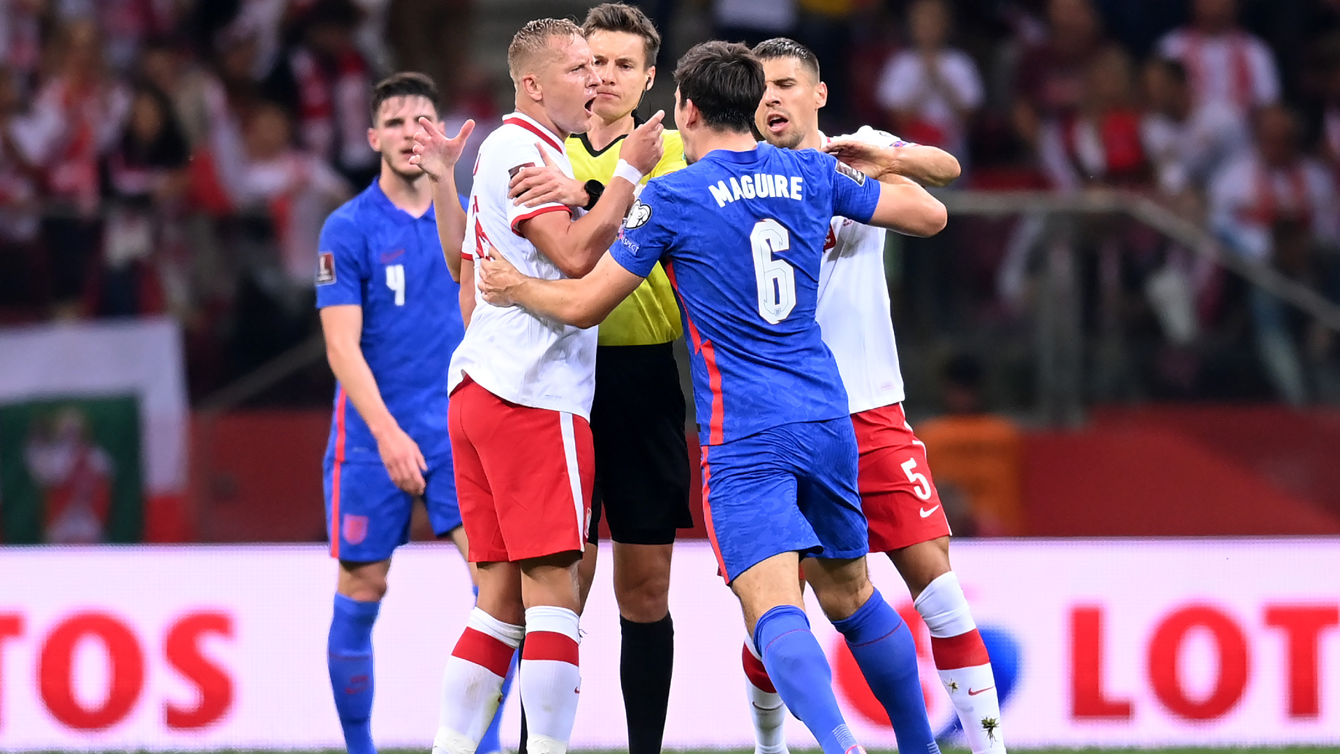 England make report to FA after clash during Poland draw