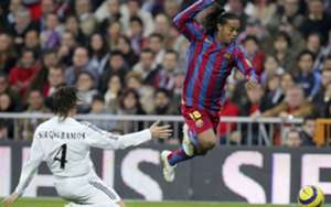 Sergio Ramos Ronaldinho Real Madrid Barcelona Primera Liga 19112005 Santiago Bernabeu